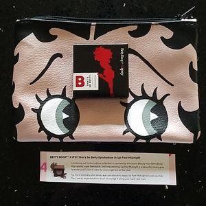 NWOT Betty Boop Makeup Bag & Eyeshadow Bundle